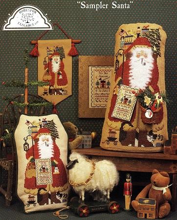 Homespun Elegance CINNAMON STICK SANTA  Sampler Santa