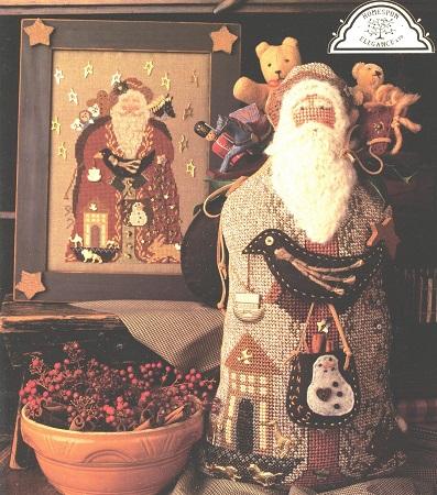 Homespun Elegance Cinnamon Stick Santa XII  My Favorite Things