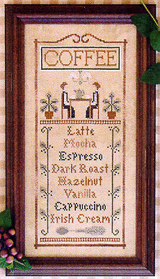 Coffee menu by Little House of Needleworks