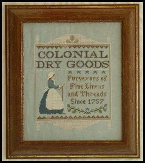 Colonial dry goods by Little House of Needleworks