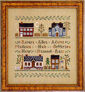 Colonial homes by Little House of Needleworks