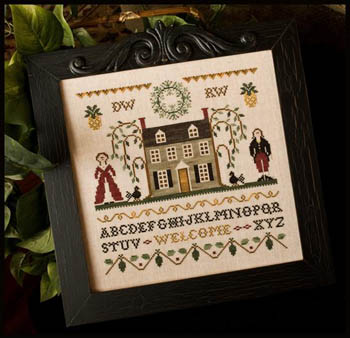 Colonial welcome by Little House of Needleworks