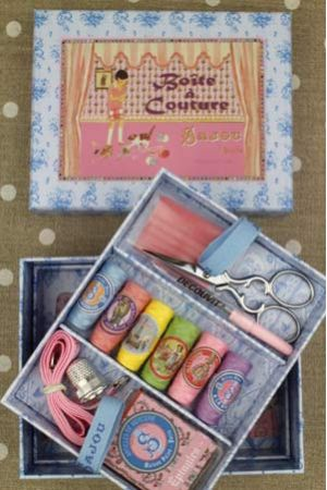 Complete sewing set Small Model - Girl and Cat by Sajou