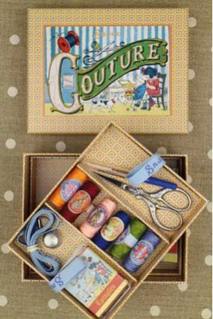 Complete sewing set Small model - Little girl Sewing by Sajou