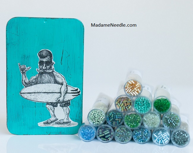 Cool Dude (The Surfer) needle box by Madame Needle