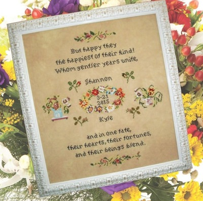 And In One Fate Wedding Sampler by Cross Stitch Antiques