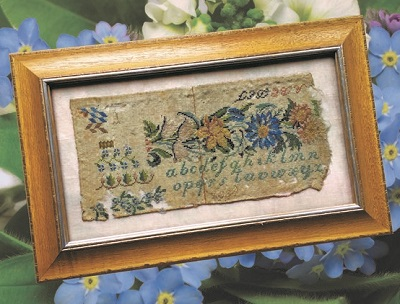 Antique Sampler Fragment 1834 by Cross Stitch Antiques