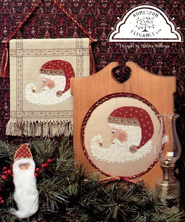 Homespun Elegance Crescent Santa