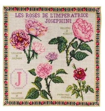 Sajou The Josephine Empress Roses counted cross stitch kit