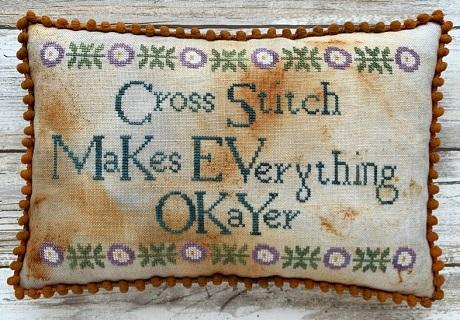 Lucy Beam Cross stitch makes everyone Okayer