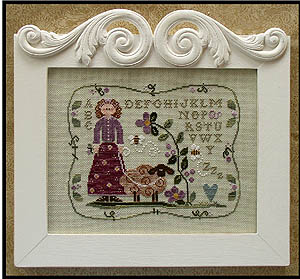 Curly Q Ewe by Little House of Needleworks
