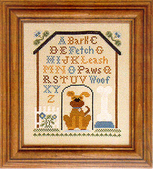 Dog house sampler by Little House of Needleworks