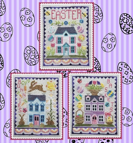 Waxing Moon Designs Easter house trio