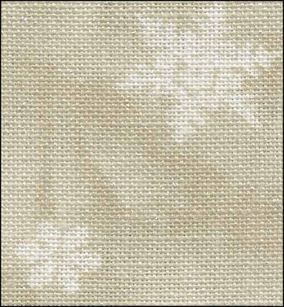 Fabric Flair Ecru with white snowflakes 28 ct fabric