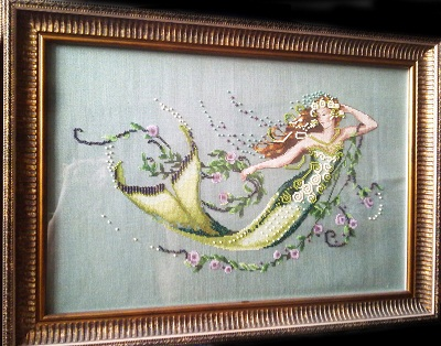 Emerald mermaid-stitched