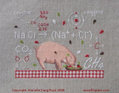 Filigram Study of molecules little pig, A12