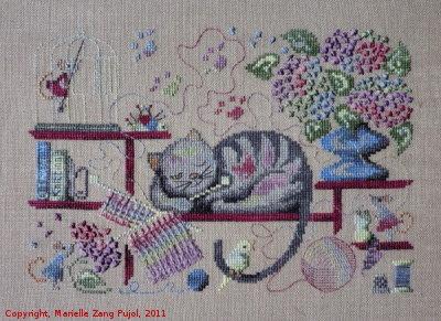 Filigram Knitting cat,A56
