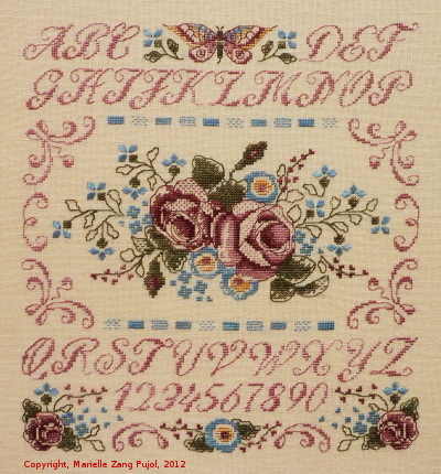 Filigram Roses sampler,A61