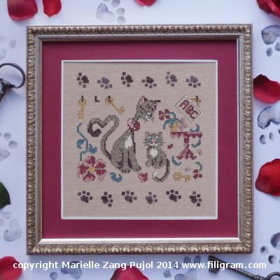 Filigram Mother Cat, A82