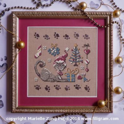 Filigram A Christmas of a cat,A95