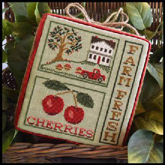 Farm fresh cherries by Little House of Needleworks