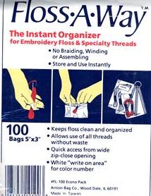 Floss-a-way ziplock bags