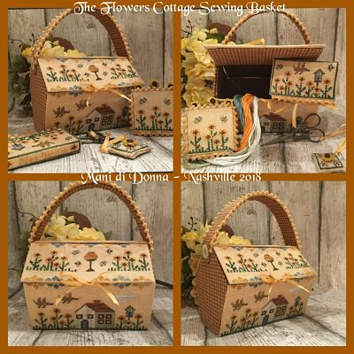 Mani di Donna The Flowers Cottage Sewing Basket MDD-TFCSB