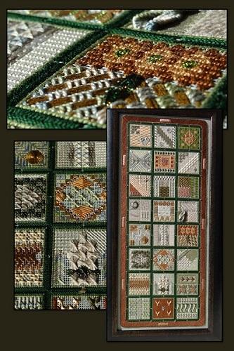 Textured Treasures Forward Alphabet Sampler (Green Colourway)