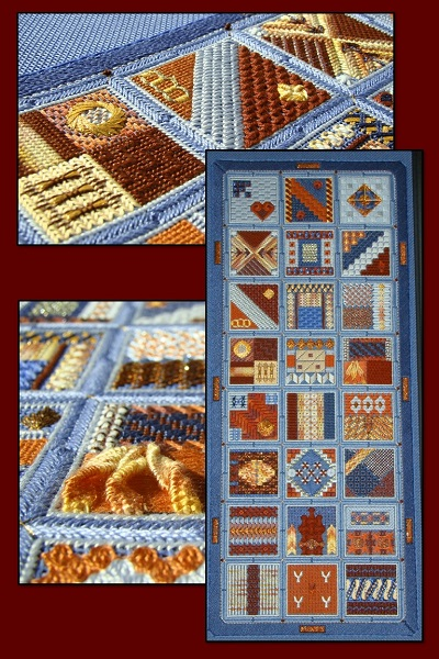 Textured Treasures Forward Alphabet Sampler (Coral Skies Colourway)