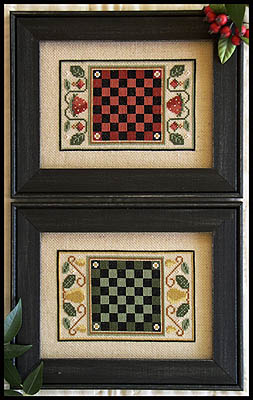 Fruit game boards by Little House of Needleworks