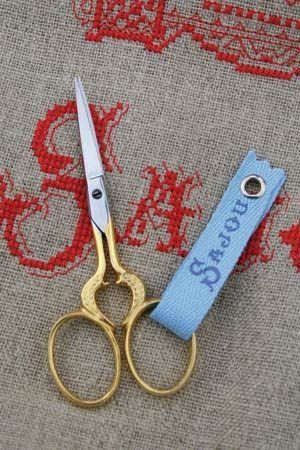 Gilded embroidery scissors-HEART model-by Sajou