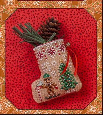 Gingerbread Mouse Elf Stocking JN304,by Just Nan