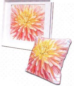 Dahlia pillow/pictire by Thea Gouverneur