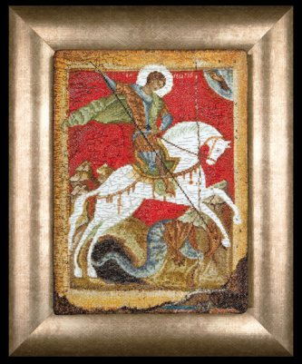 Icon St. George and the Dragon by Thea Gouverneur