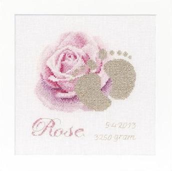 Birth Sampler Rose byThea Gouverneur