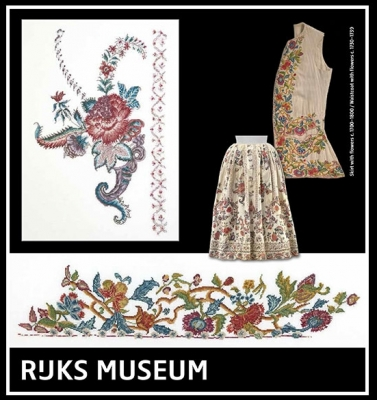 Skirt with Flowers & Waistcoat with Flowers - Rijks Museum Catwalk,GOK781,Thea Gouverneur