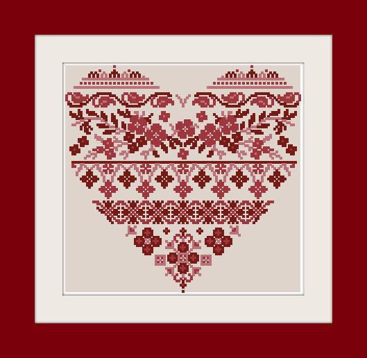 Coeur Grande Catherine by Reflets de Soie