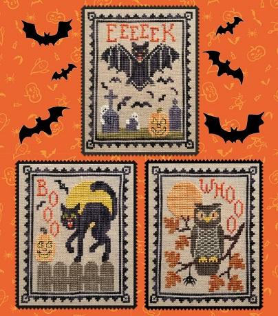 Waxing Moon Designs Halloween critter trio