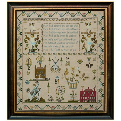 Hannah Gaskell 1823 by Hands Across the Sea Samplers
