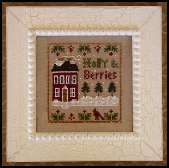 Holly and berries by Little House of Needleworks