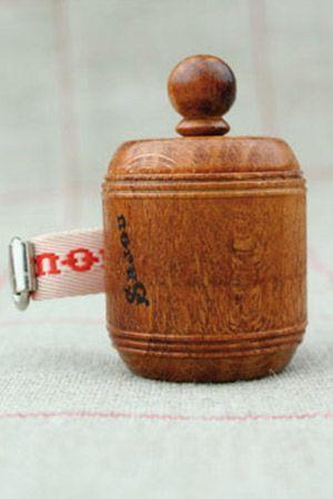 Hornbeam wooden dressmaker's tape measure red ribbon by Sajou