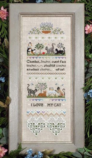 I love my cat by The Victoria Sampler