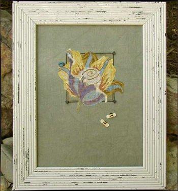 Imaginary botanicals stripes by Samsarah Design Studio