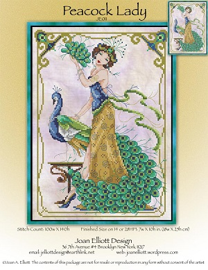 Peacock lady by Joan Elliott