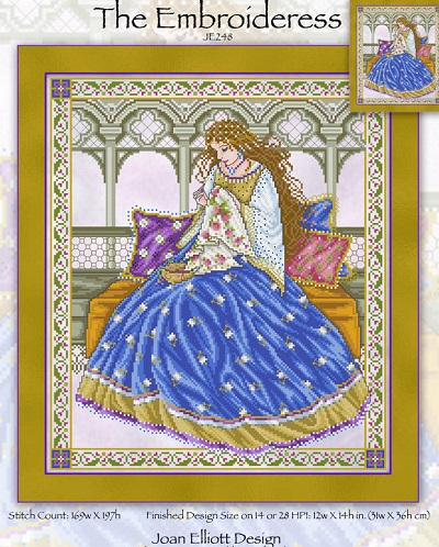 Joan Elliott An Embroideress