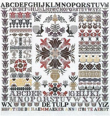 Jan Houtman Designs JH24 Tulip sampler