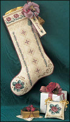 Roses for St.Nicholas stocking,JN033, by Just Nan