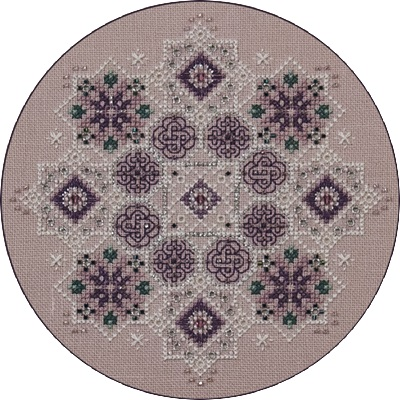 Amethyst Snowflake, JN042R by Just Nan