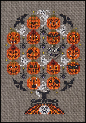 Haunted Pumpkins Tree,JN250,by Just Nan