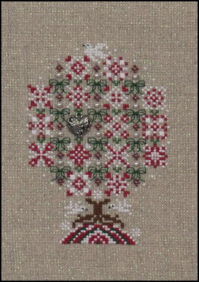 Peppermint Snowflakes Tree ,JN254,ny Just Nan